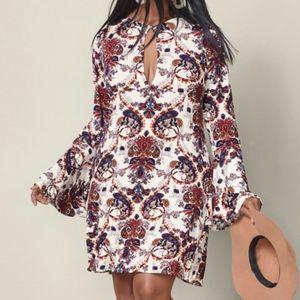 VENUS Paisley Bell Sleeve Boho Chic Dress XL NWOT